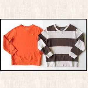 Old Navy S 6-7 Orange Lion Sweater Shirt Brown Lot